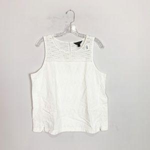 J. Crew | white eyelet crochet blouse size 12